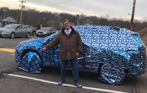 Mr. Dandelske left work on Dec. 20 to find his car completely wrapped. It didn't take him long to figure out the culprits.