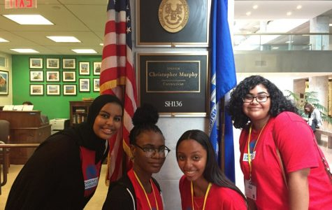 United Strength Culture Club members Rua Osman, Lydia Abraham, Lekiyah Fraser and JennyLee Malpica at a youth advocacy conference in Washington, DC last year.