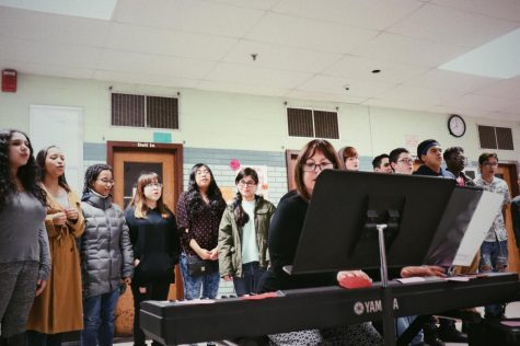 The school choir practices for this year