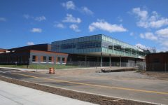 Exterior shot of the new media center.
