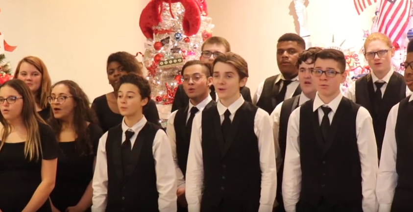 WHHS Choral Department Entertains Ronald McDonald House