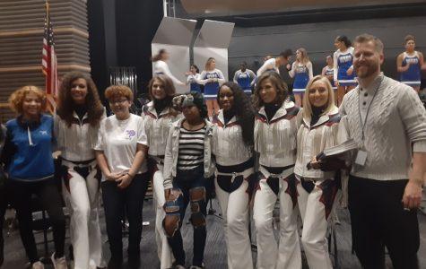 Denver Broncos Cheerleaders Visit West Haven High