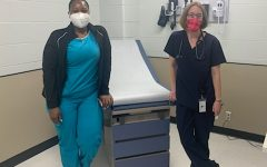Medical Assistant Brittney Sampson and Nurse Practitioner Virginie Le Dru Cohen in the new center.