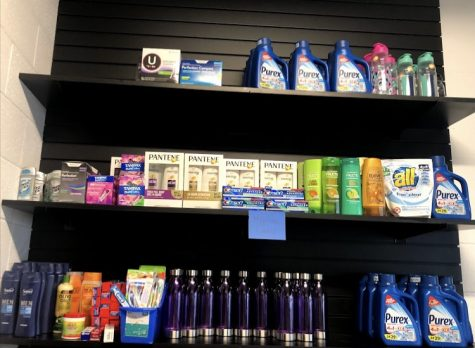 The school store has free hygiene products, school supplies and new clothes for students.
