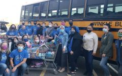 Members of the Peer Advocates after a shopping trip at the West Haven Walmart. The PAs are donating toys to over 400 families this holiday season.