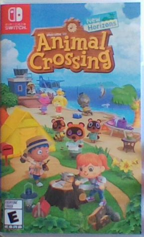"The front of the case that holds ""Animal Crossing: New Horizons"" shows just some of the many colorful and diverse characters featured in the game."